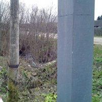 Galvanized pillar