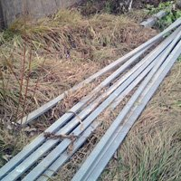 Galvanized poles for fence